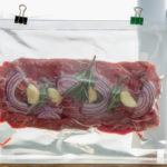 Steak Prepared In A Bag For Sous Vide Cooking