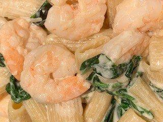 Ricotta and shrimp pasta
