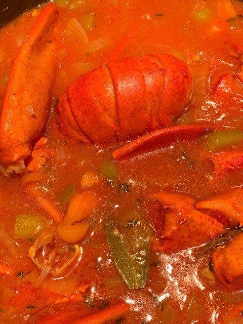 low fat lobster bisque